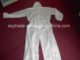 Chemischer Schutz-Overall mit vorderem Reißverschluss-Schliessen, angebrachte Hauben-Gummiband-Handgelenke