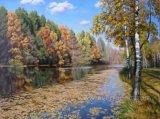 Pintura al óleo decorativa Autumn Landscape de Modern Wall Art en Canvas (EEL-086)