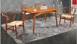 Walnuss-Farbe hölzerner Dinng Tisch und Stühle