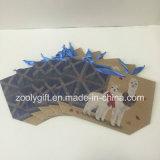 Bolsos de encargo del regalo del papel de parte inferior plana de la impresión