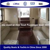 Barco de pasajero de la costa de mar de Bestyear o del barco de río 10m