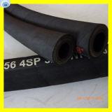 La spirale en caoutchouc à haute pression de fil d'acier de boyau pose le boyau en caoutchouc du boyau R12
