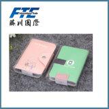 carpeta de cuero modificada para requisitos particulares colorida de la tarjeta de la PU del 11*8cm