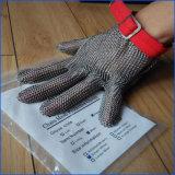 De Handschoenen van de Veiligheid van het Roestvrij staal van de Weerstand van de besnoeiing 304L