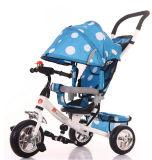 Многофункциональный трицикл младенца, прогулочная коляска младенца, ягнится велосипед 4 в 1