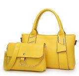 Het leer doet de Handtassen van 2 Reeksen Geplaatst de Totalisator van de Manier Dame Bags in zakken