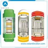 Cabina de cristal de la elevación para el elevador panorámico controlado de 800kg Vvvf (OS41)