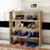 Het moderne Witte Meubilair van de Woonkamer bewaart het Ruimte Houten Rek van de Schoen van Cabient van de Schoen voor Huis