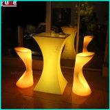 정취를 불이 켜진다 색깔 변화 의자 바 의자를 놓으십시오