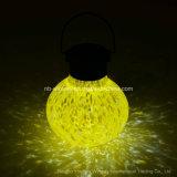 Luz solar de cristal luminescente amarilla de la decoración del vector de té
