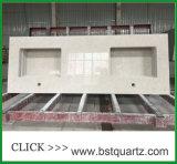 Верхняя часть кухни камня кварца смещения 6131 Bianco встречная