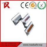 Haltbarer Aluminiumglasraupe-Katzenauge-reflektierender Blatt-Straßen-Stift