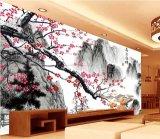 Mural impermeable vendedor caliente de la pared de la pintura china de la decoración del papel pintado de la alta calidad