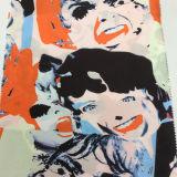 Ropa impresa modelo creativo del poliester de la cara y tela de materia textil casera