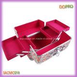 Das geöffnete Form-Aussicht-Doppelte bilden kosmetischen Schönheits-Kasten (SACMC018)
