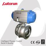 """8 """" robinet à tournant sphérique pneumatique de disque d'acier inoxydable de la norme ANSI 150"""