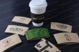 Cuvettes de papier estampées par coutume d'Eco-Ami de double de café chaud remplaçable de mur