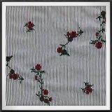 Bordado teñido hilado rayado tejido del bordado del encadenamiento del bordado de la tela