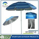 Полиэфир с серебряным зонтиком пляжа покрытия, зонтиком Sun (SY2007-D)
