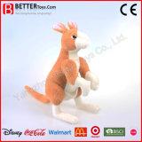 En71子供のための現実的な詰められたプラシ天の動物のカンガルーの柔らかいおもちゃ