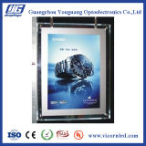 Double Cadre-CRD acrylique clair latéral d'éclairage LED