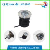 indicatore luminoso sepolto LED sotterraneo dell'indicatore luminoso IP68 del LED messo 3W