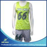 Uniformes du Lacrosse de sublimation de la fille faite sur commande d'impression