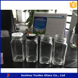 6oz 8ozの正方形のビスケットのガラス明確な瓶