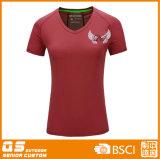V das mulheres - Esportes da garganta que funcionam o t-shirt