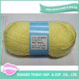 Fio por atacado do Crochet que tricota manualmente o fio do acrílico do algodão de lãs
