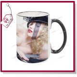 15oz Colored Handle White Blank Sublimation Mug
