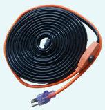 Câble chauffant de conduite d'eau 7W/FT avec la chaufferette électrique de câble chauffant de fiche des Etats-Unis pour l'étable
