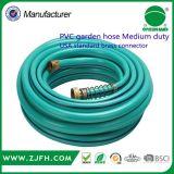 Mangueira de jardim de bronze contínua de venda quente do PVC do conetor de China