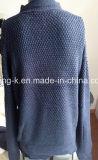 Camisola pura da cor do projeto da garganta do folho da forma para mulheres/senhoras