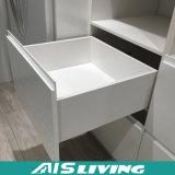 Mobília branca dos gabinetes de cozinha do armazenamento da laca do lustro elevado (AIS-K119)