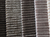 소파를 위한 줄무늬 최고 연약한 보통 염색된 벨루어 직물