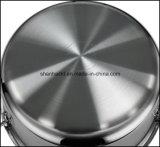 Carter de sauce à poêle à frire d'acier inoxydable de 3 plis