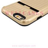 Levering voor doorverkoop 2 in 1 Geval van de Telefoon van de Koffer met de Houder van de Kaart voor Samsung/iPhone