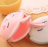 Kundenspezifischer Form-Kaninchen-Gummimappen-Silikon-Münzen-Fonds
