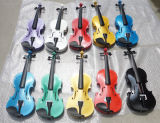 Violín de color blanco de madera contrachapada para escuela de música y estudiante