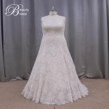 Мантия венчания привлекательного lhbim Neckline Lllusion конструкции Bridal