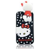 Samsung J1のエース(XSK-009)のためのかわいいこんにちはのキティ猫の点のシリコーンの電話箱