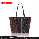 Шерсть Lepoard Faux Zippers мешок Tote PU