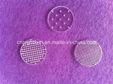 Clear rotondo Quartz Discs con Hole