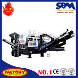 Triturador de minério móvel de esmagamento móvel do ferro da planta do minério de ferro