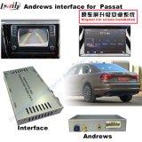 Surface adjacente visuelle androïde de système de navigation du véhicule GPS pour le golf 7, Touran, Passat, variante de VW, navigation de contact de la mise à niveau (MIB2), tige de miroir, écran de moulage, carte de Google
