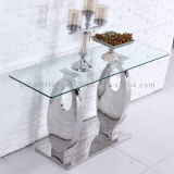 Table de console en verre transparent modèle 2016 Hot Selling