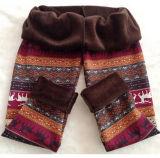 Pantalon d'extension chaud de taille de Noël d'ouatine positive de flocon de neige (14341)