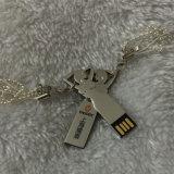 O disco da memória da vara da movimentação da pena da movimentação do flash do USB da menina da beleza da arte do metal