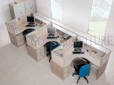 Der neue ergonomische Form-Grün-Schutz öffnen gebogene Büro-Zelle (SZ-WS347)